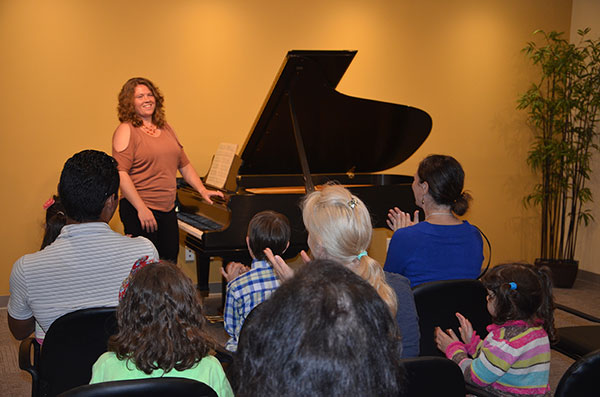 Hulbert Piano Grand Opening-recital Hall with piano teacher Jessica Mejer